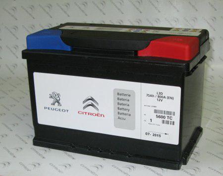 Аккумулятор PEUGEOT (S5 12V 110Ah 950A 393х175х190)